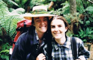 Rebecca (right) and her sister Kate spent many happy hours hiking and debating how to save the natural world. Photo - courtesy Rebecca Millar