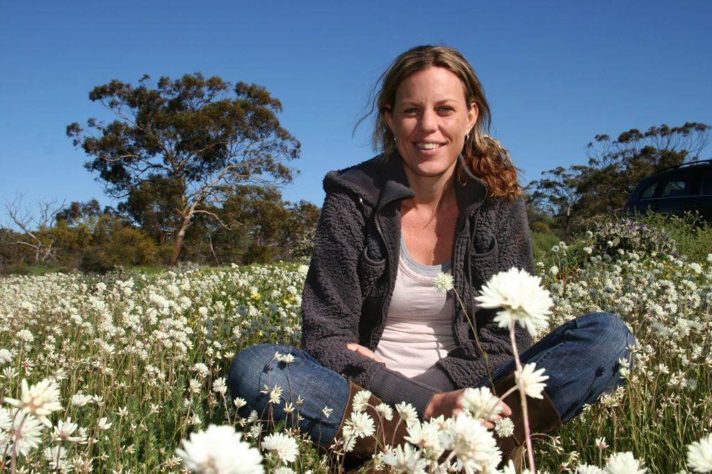 A younger Fleur on the family farm she transformed into an award winning tourism business.