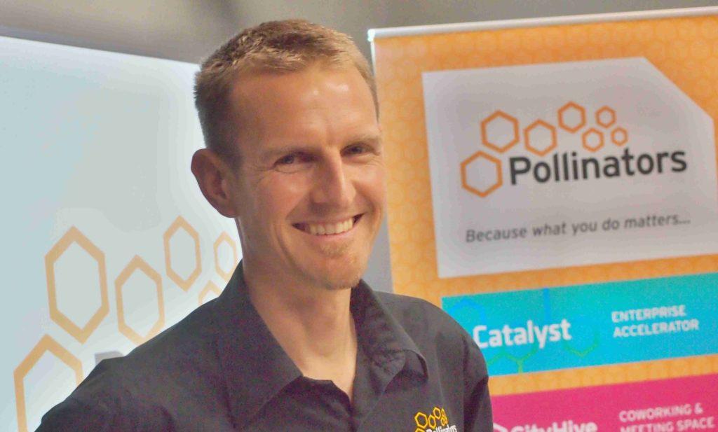 Andrew at a Pollinators AGM.