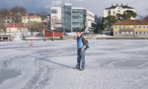 Andrew immersed himself in the question of sustainability while studying in Sweden.