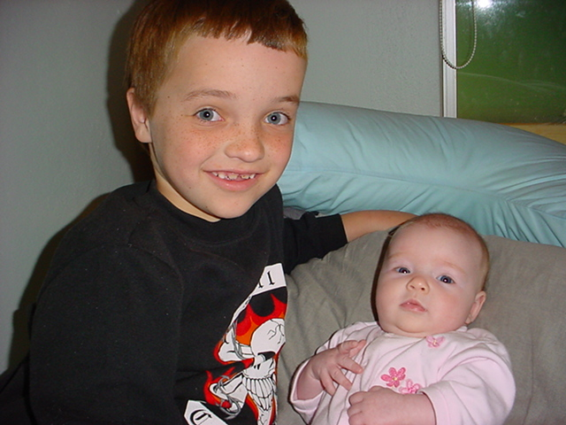 Though Sam couldn't stand other babies, he loved his little sister Sophie.