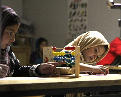 Enticed with skateboards, Afghan girls are groomed to re enter the school system with education programs.