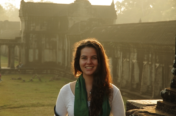 Keen to witness aid work in action, Emma travelled to Cambodia as part of her 'gap year'.