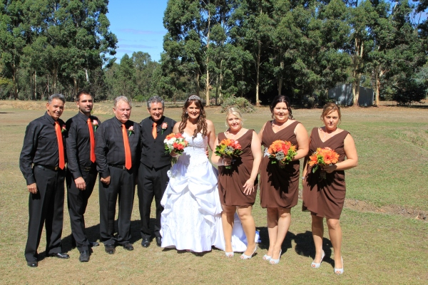 Karen and Vince's wedding day.
