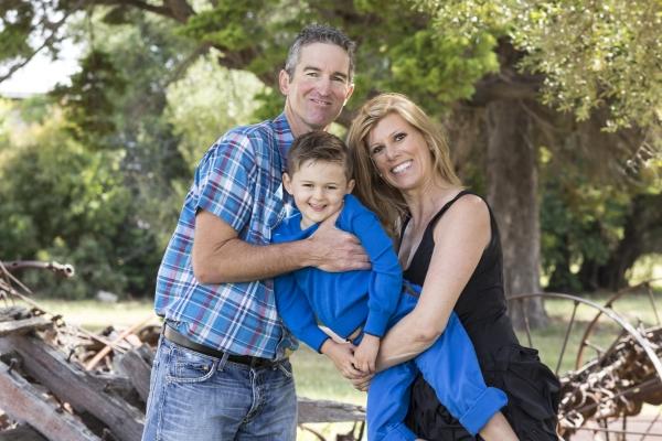 Happy family - Richard, Finley and Sally.