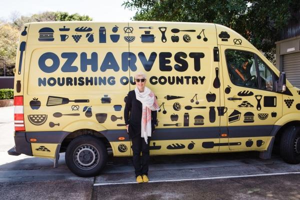 Ronni Kahn with an OzHarvest van.