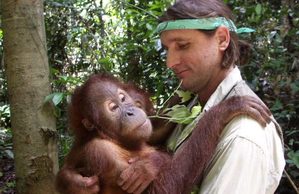 Leif is smitten with orangutans.