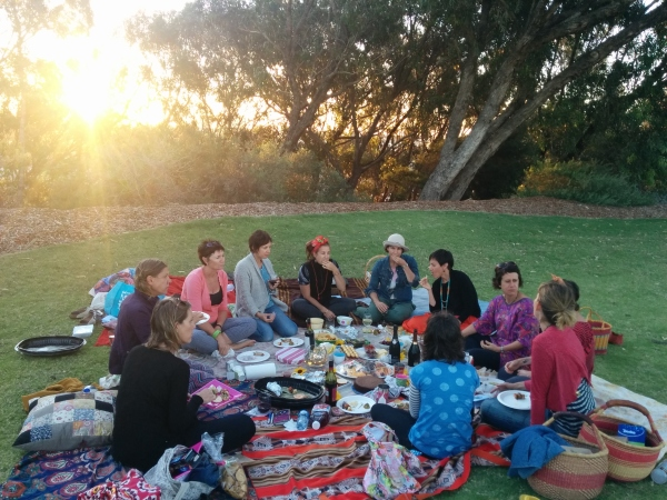 The women's circle that Wendy joins monthly. Photo - Sandra Gunthart