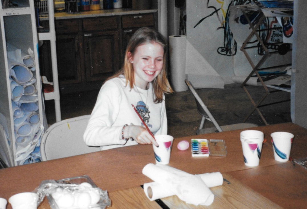 A young Lori in art therapy - yet another attempt to overcome her bulimia and depression.