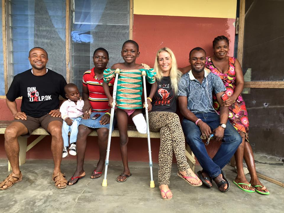 Anja and others with some of the children she has helped rescue.