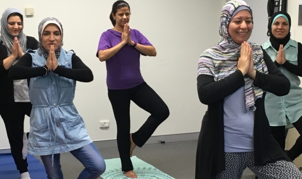 Muslim Iraqi Women's Yoga Group.